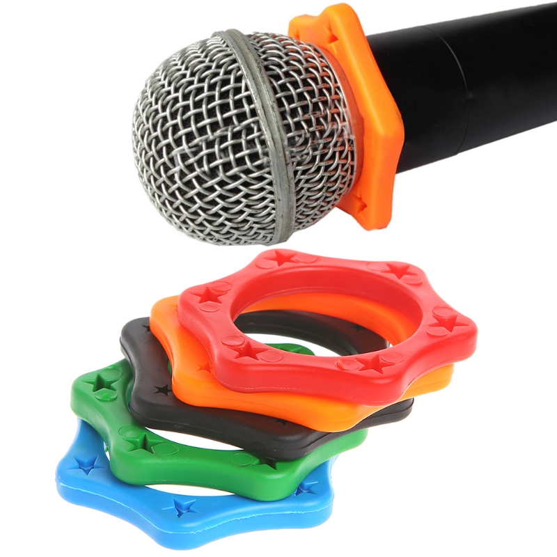 5 Pcs Rubber Anti Slip Roller Ring Protection For Handheld Wireless Microphone