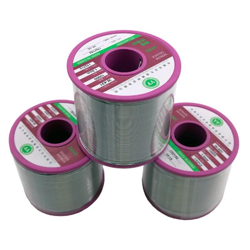 800g 1000g/roll Sn50Pb50 FLUX 1.8~2.5% Tin Lead Tin Wire Melt Rosin Core Solder Soldering Wire Roll 0.6~1.2MM