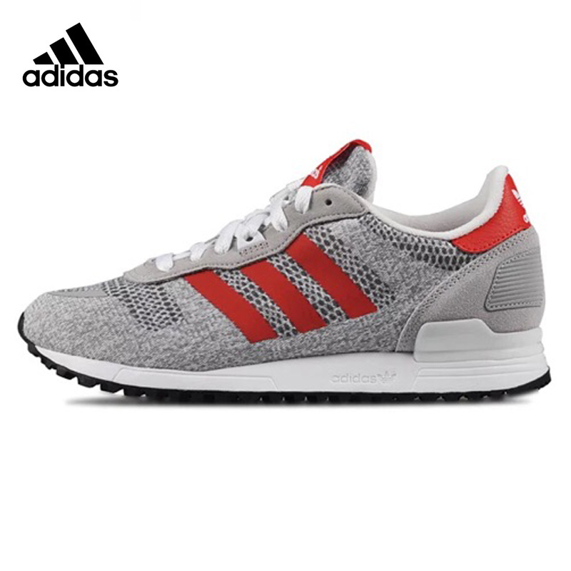 ADIDAS ZX 700 Men's Running Shoes Sneakers Sports, Grey Orange ,Anti-slip Shock Absorption Wear Balance S79191
