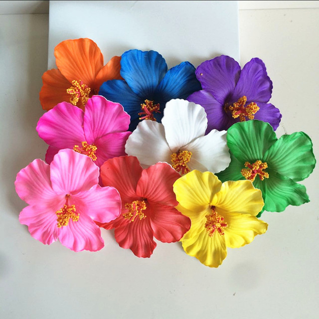 Flower 36pcs Free Shipping Colors Foam Hawaiian Flower Hibiscus