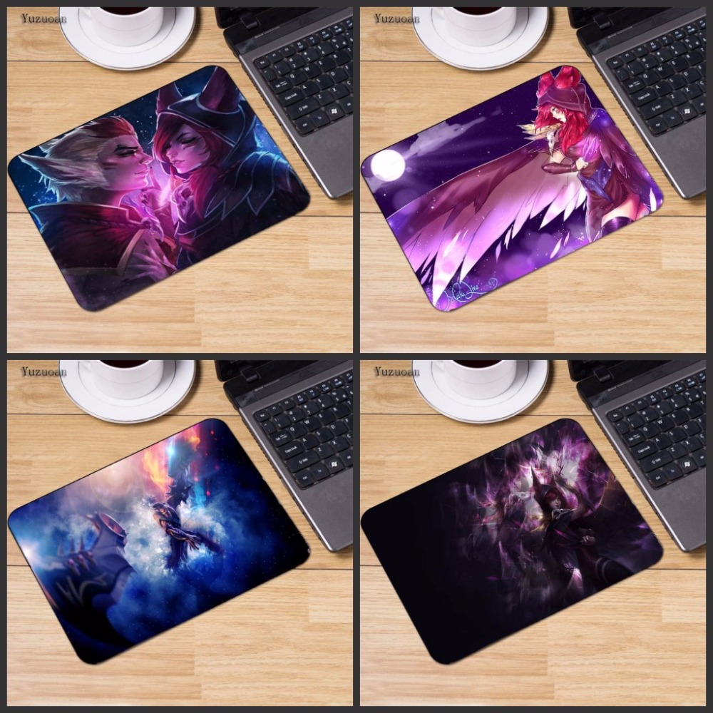 Yuzuoan League Of Legends Xayah Notbook Computer Mousepad Custom With NO Locking Edge Gaming Mouse pads Gamer Size 18*22CM image