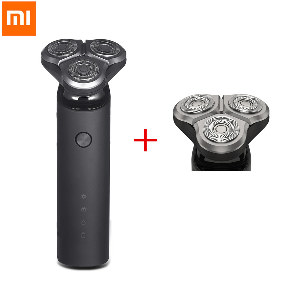 Xiaomi Mijia Electric Shaver Razor for Men Shaver Head 3 Dry Wet Shaving Washable Main-Sub Dual Blade Turbo+Electric Shaver HeadXiaomi Mijia Electric Shaver Razor for Men Shaver Head 3 Dry Wet Shaving Washable Main-Sub Dual Blade Turbo+Electric Shaver Head