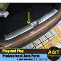 AUTO PRO car styling Stainless Steel Inside Rear Bumper Sill Protector For 2015 KIA Sorento Rear rear fender Guard 1PC Car Acces