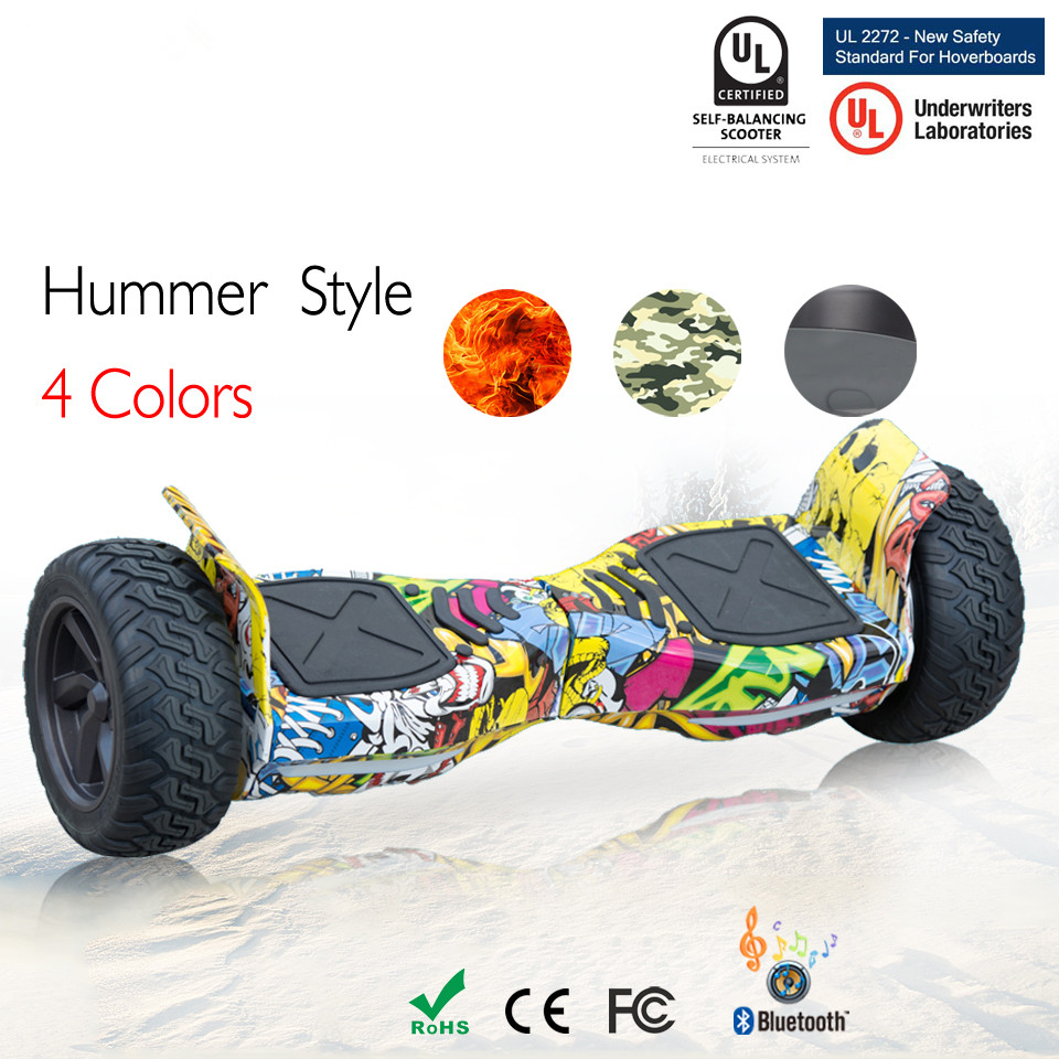 8.5 Inch Off Road Balance Hoverboard Scooter Oxboard With Remote Controller Bluetooth Speaker Application Adulto Euro Warehouse