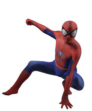 Spider-Man Costume Mi Ultimate Spiderman Cosplay Superhero Spandex Zentai Bodysuit Halloween suit free delivery