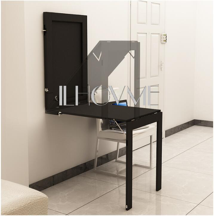 Wall Hanging Folding Table Invisible Expansion Computer Desk Mesa Plegable Dining Kitchen Storage Rack