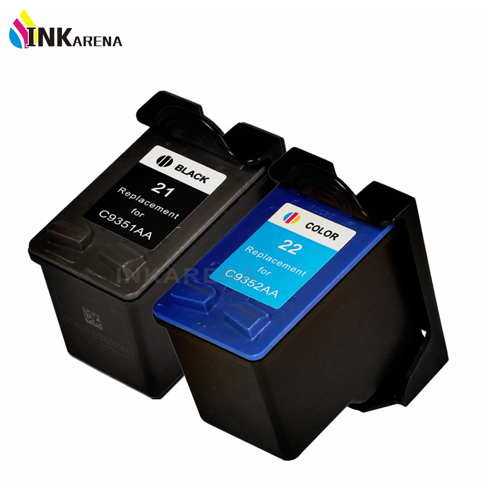 INKARENA Remanufactured Ink Cartridge Replacement For HP21 22 Deskjet 3915 1530 1320 1455 F2100 F2180 F4100 F4180 Printer for hp21 22 printer ink href