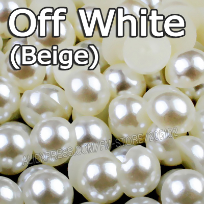 2500 Pcs 6mm Plastic Faux Pearl Round Beads Pure White Imitation Pearl