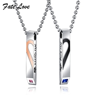 Fate Love Romantic Pendant Lover S Necklace Anniverasy Gift Romantic Love Heart Bead Chain Necklace For