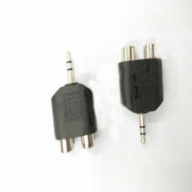20 cái 3.5 MÉT Tai Nghe kết nối để 2 RCA sen Adapter Nam cho Nữ AV Âm Thanh convertor