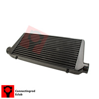 For Universal Front Intercooler Ture And Fin 600x300x76 3inch In Outlet Black