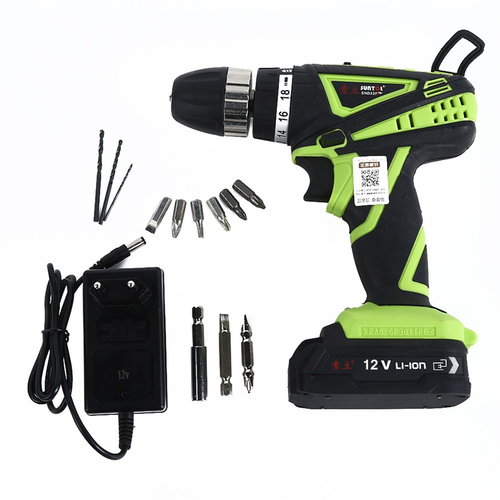 цена на Multitools 12V Multifunction Lithium-ion Battery Rechargeable Electric Drill Bit Cordless Electric Screwdriver Set Power Tool