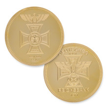 Retail 2pcs/lot 24KT Bullion German Coin 24K Gold Plated Clad DEUTSCHES EAGLE REICHSBANK 1871 Germany Round Coins