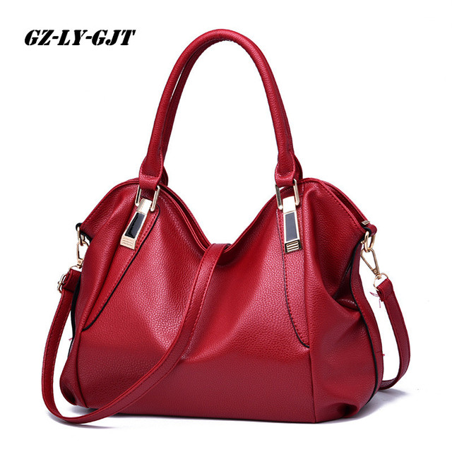 GZ-LY-GJT 4 Color Fashion Designer Women Handbag Female PU Leather Bag Office Ladies Portable Shoulder Bag Ladies Hobos BagTotes