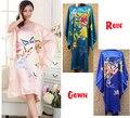 Mujeres libres del Envío Hecho A Mano Pintado Kaftan Robe Gown Kimono Albornoz pijamas Mariposa y Peony