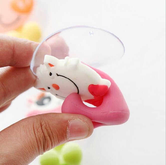 Cute Cartoon sucker uchwyt na szczoteczki do zębów ssania haki łazienka zestaw akcesoria stojak na szczoteczki do zębów