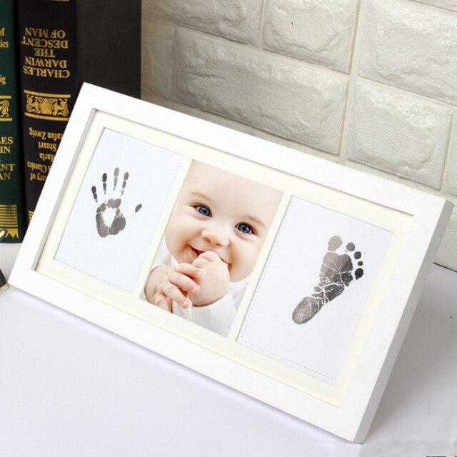 1pcs Diy Photo Frame Newborn Baby Handprint Footprint Inkless Touch