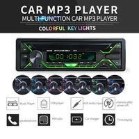 Portable Bluetooth Car Radio MP3 Player Stereo Audio Colorful Screen FM Stereo Radio ISO Port Support