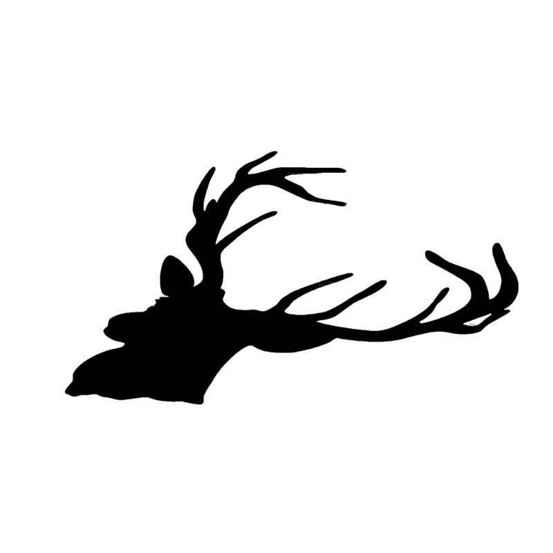 12cm * 16,5 cm de moda Cool Deer Head vinilo Car Styling Sticker creativo coche de caza pegatinas negro/blanco C45