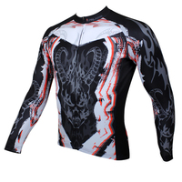 Free Shipping Dragon S Head Men Long Short Sleeve Cycling Jersey Fashion Bicycle Top Black Breathable