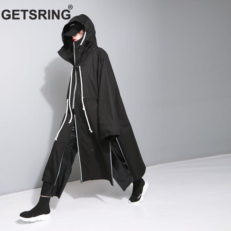 GETSRING Women Trenchcoat Oversized Winter Coat Trench Coat Long Loose Windbreaker Outerwear Womens Formal Coat Tops Wholesale