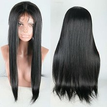 Fashion 130% density full lace human hair wigs for black women silky straight lace front wig for african american