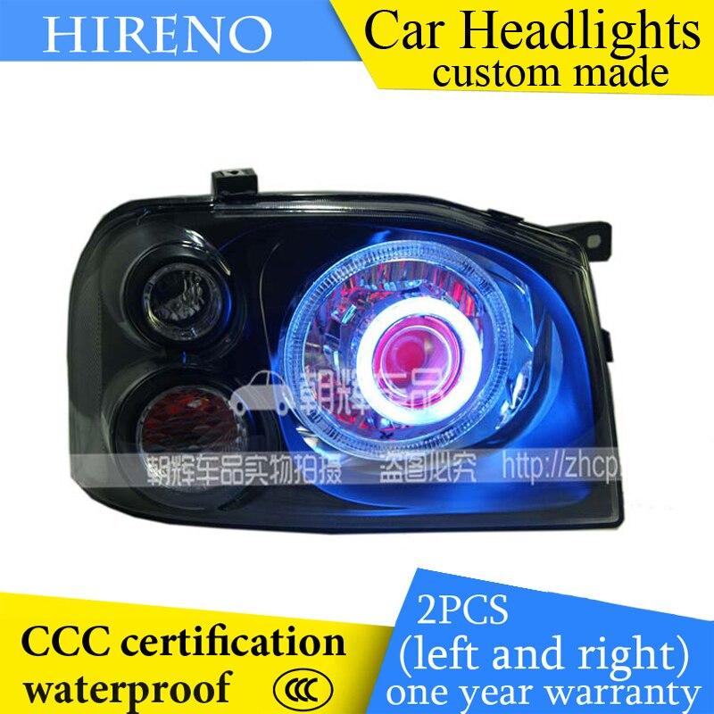 Hireno custom Modified Headlamp for Great Wall SING Headlight Assembly Car styling Angel Lens Beam HID Xenon 2 pcs
