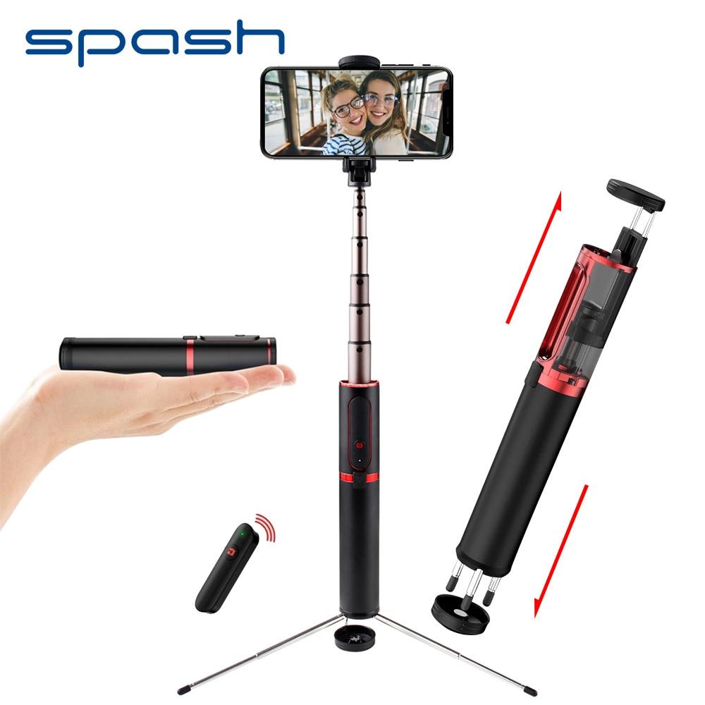 Dasht palo de Selfie Bluetooth Mini portátil de mano trípode 3 en 1 Monopod Selfiestick para iPhone Samsung Huawei Xiaomi Android