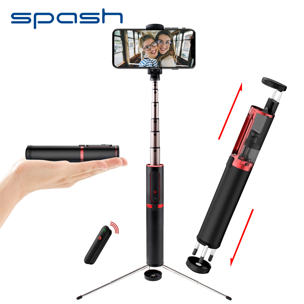 Spash Selfie Stick Bluetooth Portatile Tenuto In Mano Mini Treppiede 3 in 1 Monopiede Selfiestick per iPhone Samsung Huawei Xiaomi Android