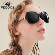 VEGOOS  New Polarized Sunglasses Women Sun Glasses Brand Designer Fashion Round Face Butterfly Style Big Frame #9086