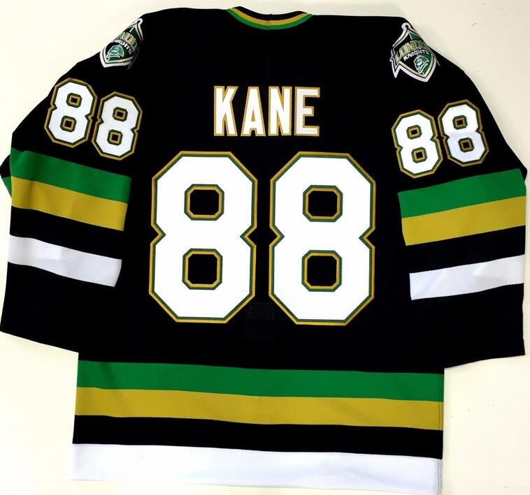Detail Feedback Questions about Vintage London Knights  88 PATRICK KANE Hockey  Jersey Embroidery Stitched Customize any number and name Jerseys on ... 49a97681e
