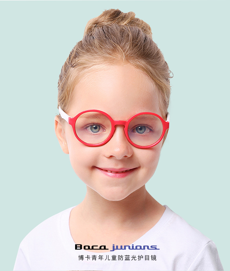 ba4b7313aa Round Anti Blue Light Glasses Kids 2018 Children Boy Girl Sunglasses  Blocking Filter Reduces Digital Eye Computer UV400 Oculos