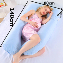Support Pillow For Pregnant Women Body Cotton Pillowcase U Shape Maternity Pillows Pregnancy Side Sleepers Bedding