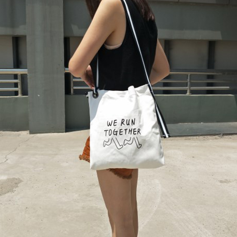 Women Canvas Shopping Bags Casual Tote Zipper Ecofriendly Shoulder Versatile Sack Summer Holiday Beach DIY Painting Handbag