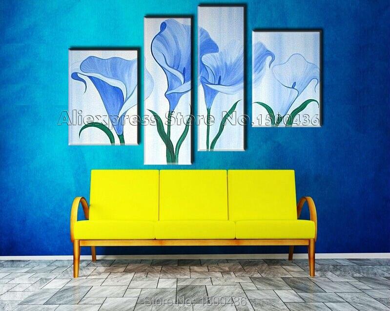 Attractive Blue Flower Wall Art Elaboration - Wall Art Collections ...