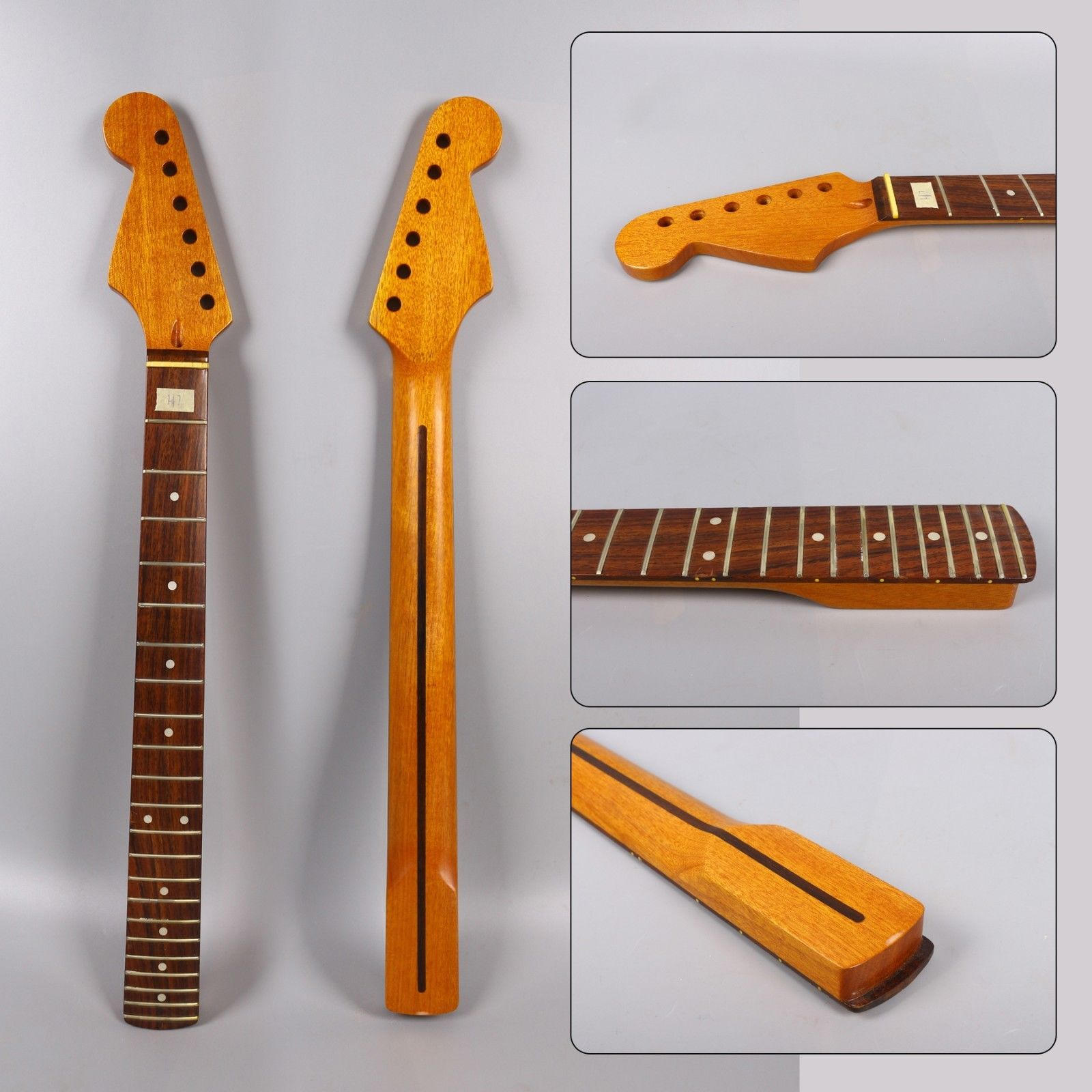Electric Guitar Neck 22 fret 25.5Inch vintage Mahogany RoseWood Fretboard guitar part#H7
