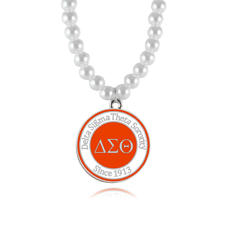 Delta Sigma Theta Sorority Pearl Necklace DST since 1913 red Jewelry necklace