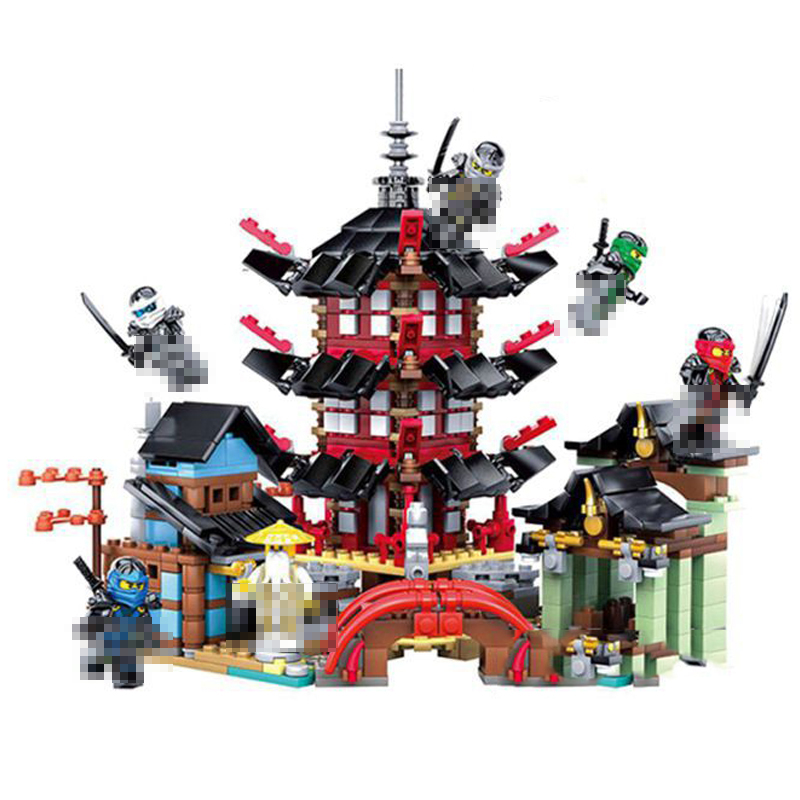 2018 Ninja Temple Hot Blood DIY Building Block Sets Educational Toys For Children Compatible Legoing Ninja Goes Fighting ninjago ...