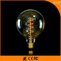 50Pcs Vintage Design Edison Filament E27 B22 LED Bulb ,G125 40W Energy Saving Decoration Lamp Replace Incandescent Light AC220V