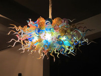 Multicolor Table Top High Hanging Fancy LED Lamps Mouth Blown Murano Glass Chandelier Light Fixture