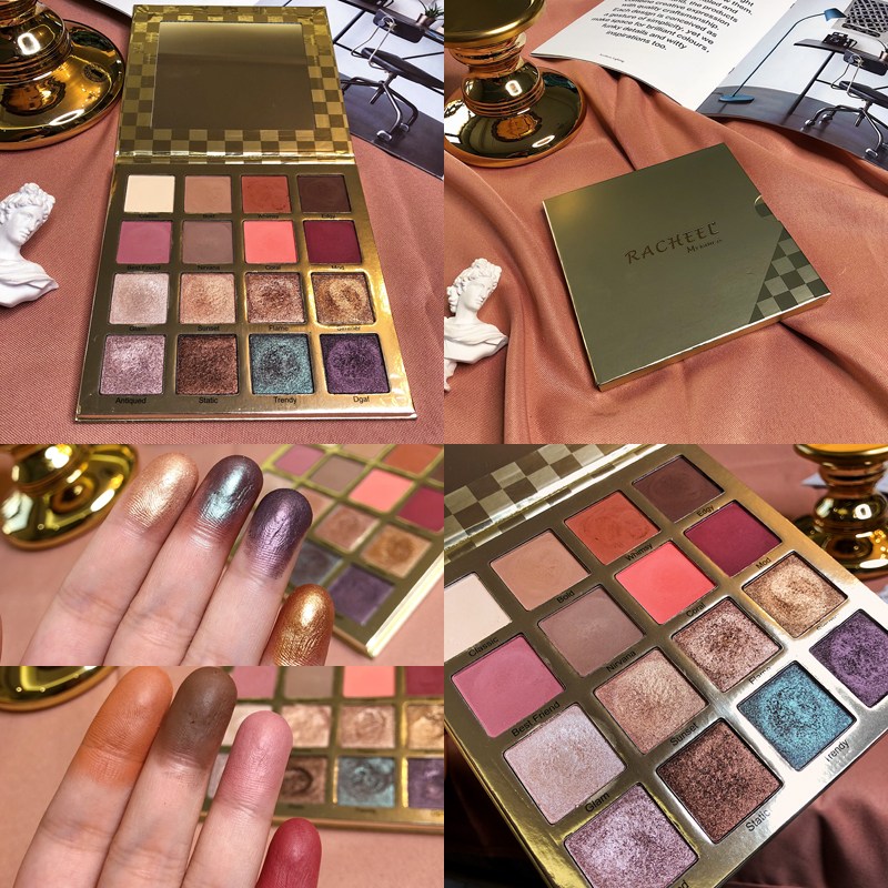 16 Color Brand Tarto Eyeshadow Pallete Shimmer Matte Glitter Eye Shadow Palette Smoky Pigment Rich Makeup Cismetic