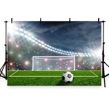 Vinyl Photography Background Football Field Soccer Match Sports Theme Party Champion Children Backgrounds for Photo Studio