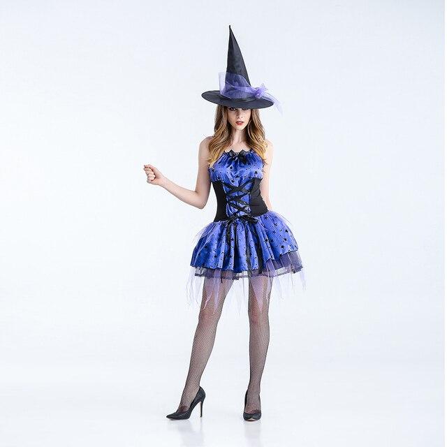 1a2b8e9a08 VASHEJIANG dorosłych Gothic czarownica kostium Sexy kobiet magiczny Moment  kostium dla dorosłych latanie Witch Cosplay kostiumy