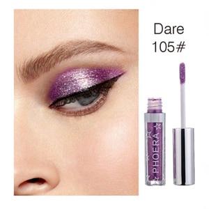 Image 5 - PHOERA 16Color Liquid Eye shadow Pencil Shimmer Eyeshadow Waterproof Long lasting Glitter Eyeshadow Eye Makeup Palette TSLM2
