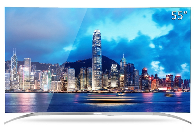55 65 pouces HD 3D 4 K led TV Android Plein smart wifi courbe 1080 P led TV