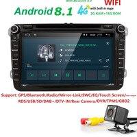 Hizpo Android Navigaton автомобильный мультимедийный плеер для сиденья Altea Skoda Volkswagen мужские поло Touran Passat Гольф Amarok кролик TPMS SUB DVR