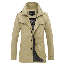 Autumn and winter new men's single breasted jacket lapel personality twill jacket water