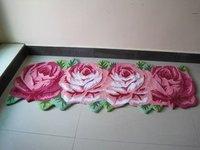 4 Rose Carpet Floor Mat Handmade Rug Anti Slip Modern Carpet Kitchen Area Rugs Rose Shaped