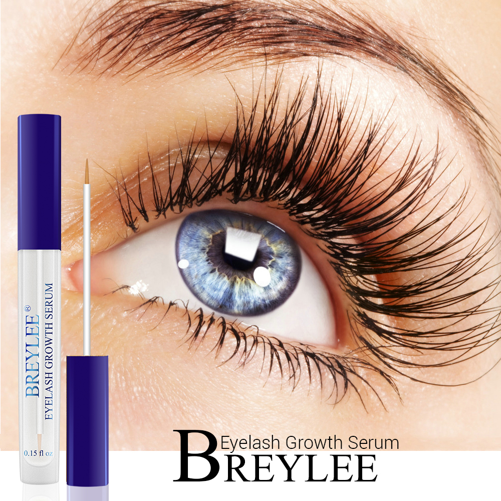 BREYLEE Eyelash Growth Serum Essential Oil Eyelash Enhancer Eye Lash Treatment Liquid Longer Fuller Thicker Face Eye Care Makeup