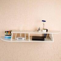 Modern Floating Shelves Chic Wall Mounted Shelf Bookshelf Display Rack Holder Household CD TV DVD